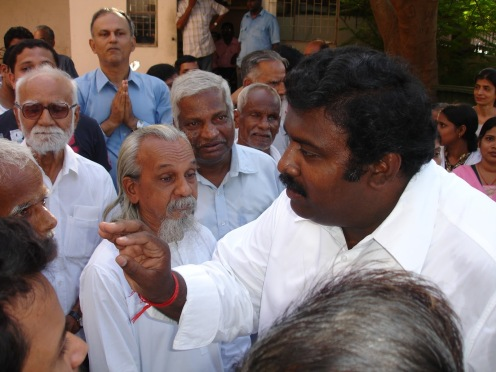 Ashok Anand with some anti-Ashram ashramites-2